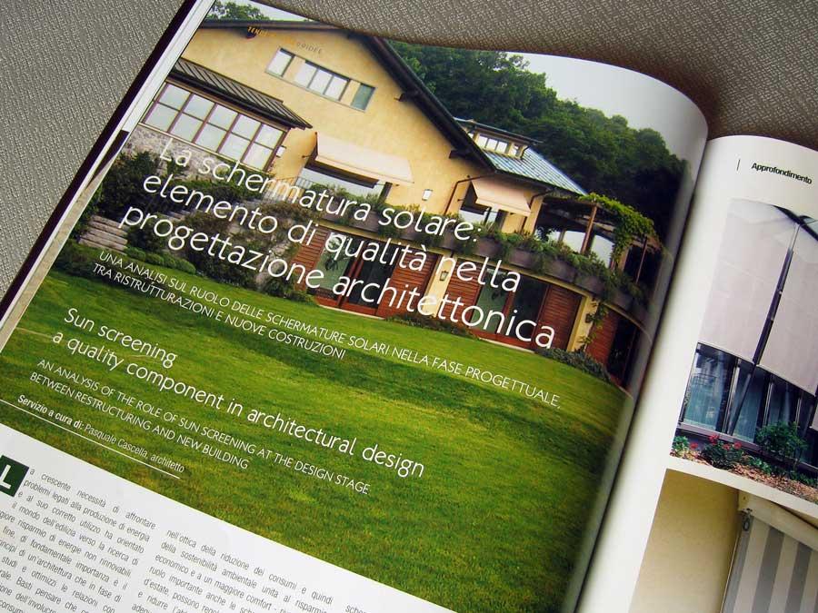 Pubblicazione 5 su rivista di tende da esterno